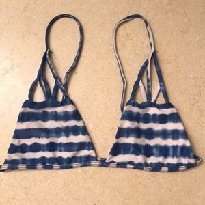 Acacia Swimwear White and Blue Stripped Tie-Dye